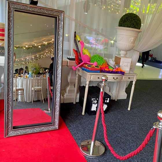 Magic photographic mirror hire