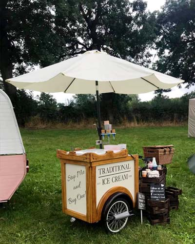 Hire our ice cream trike