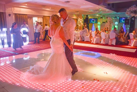 Hire a dance floor with lights